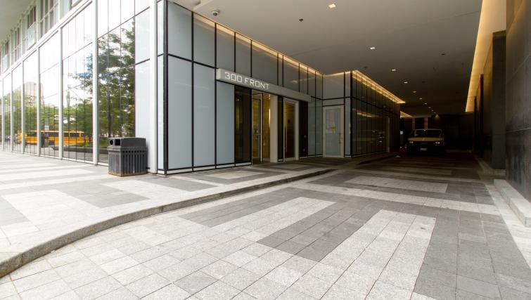 Entrance at Front Street West Apartments