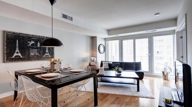 Living area at Claridge Plaza Apartment