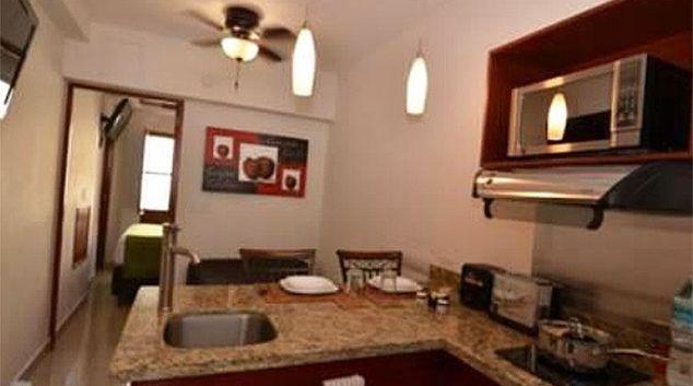 Kitchen at La Concordia Apartments