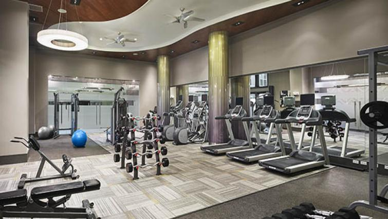 Gym at AVE Newton Square Apartments