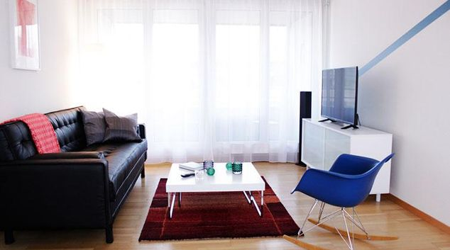 Living area at Baarerstrasse 27 Apartment