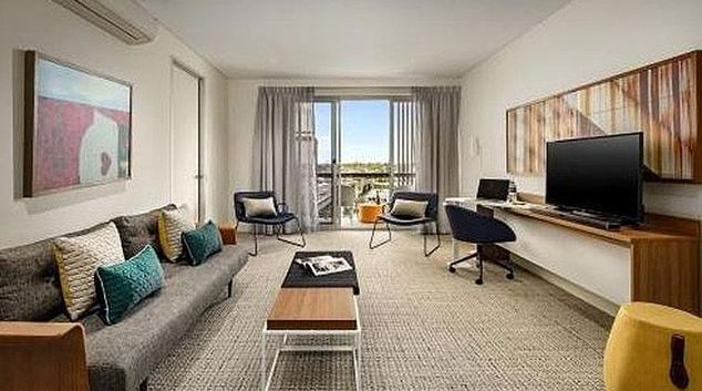 Living area at Port Adelaide Apartments