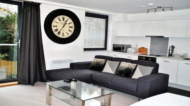 Stylish living area at 15 Sheet Street Apartment