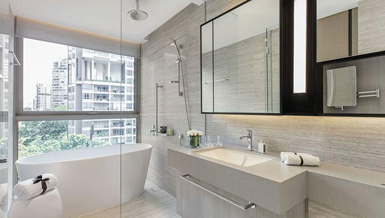 Bathroom at Ascott Orchard Apartments, Singapore
