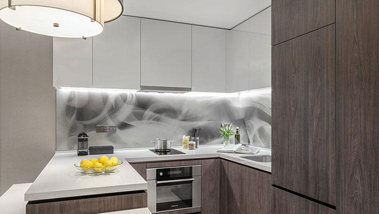 Equipped kitchen at Ascott Orchard Apartments, Singapore