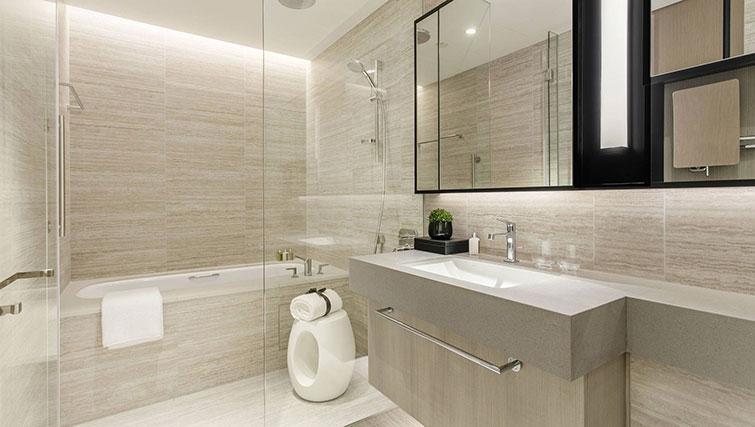 Modern bathroom at Ascott Orchard Apartments, Singapore