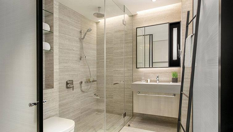 Shower room at Ascott Orchard Apartments, Singapore