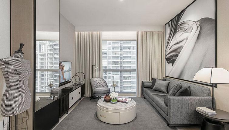 Living room at Ascott Orchard Apartments, Singapore