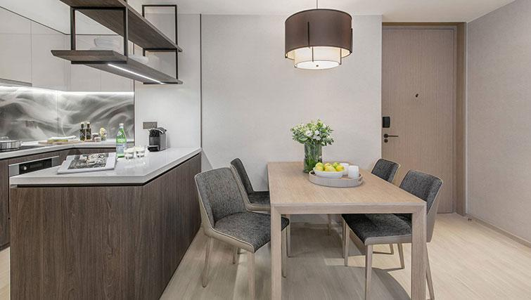 Dining area at Ascott Orchard Apartments, Singapore