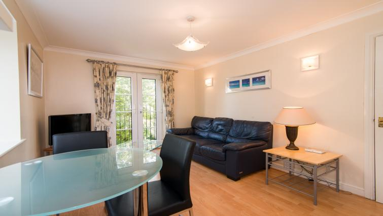 Dining and living area at Laurieston Cheadle Apartment