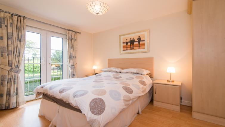 Doubled bed at Laurieston Cheadle Apartment
