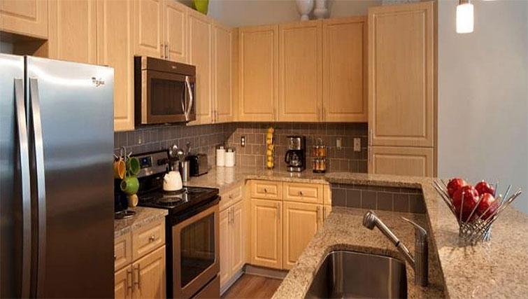 Kitchen at Seventeen West Apartments