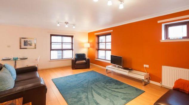 Living space at Greyfriars Apartment