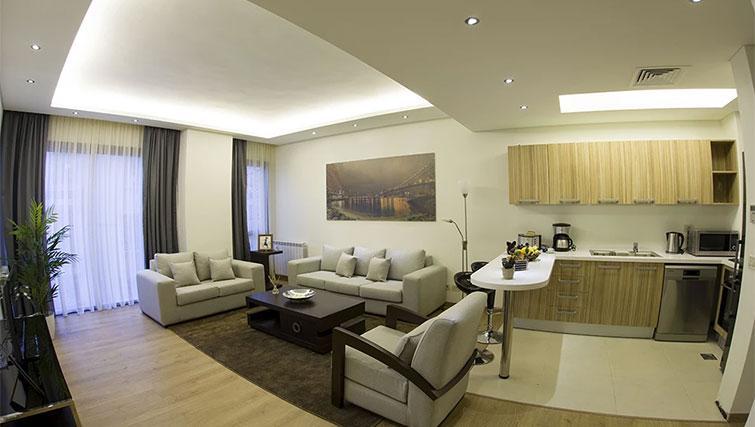 Living space at Kantari Suites