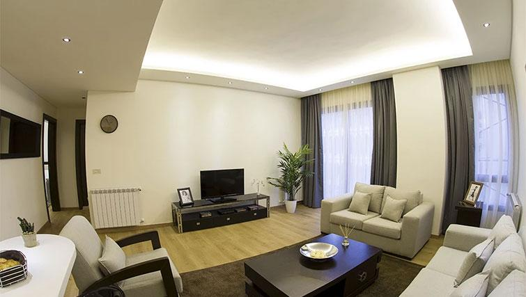 Living area at Kantari Suites