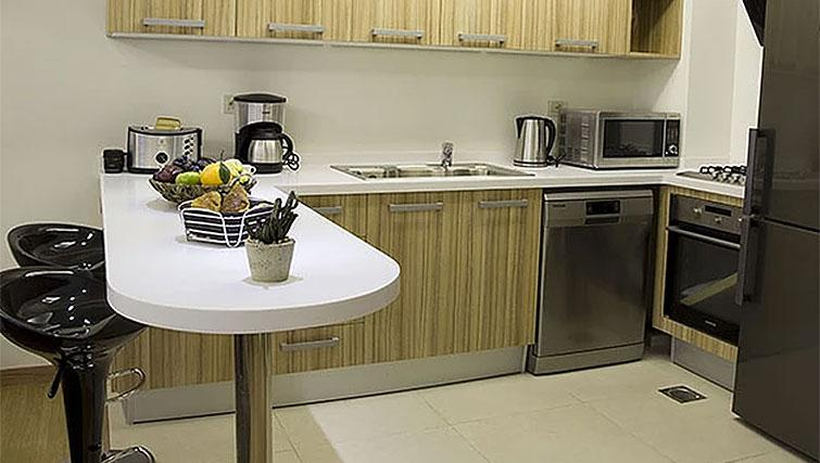 Kitchen at Kantari Suites