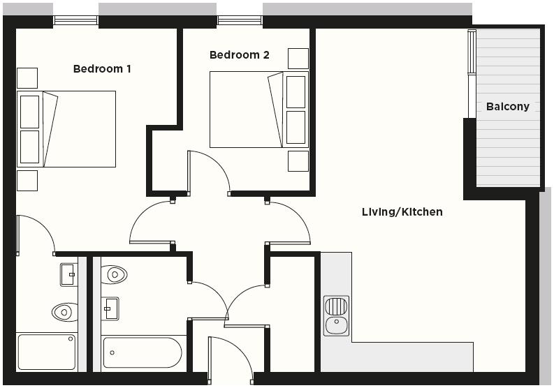 Floor plan at Dream Apartments Cambridge Street