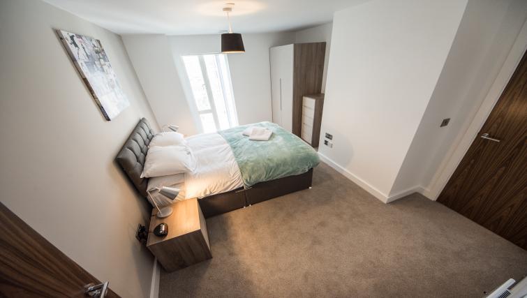 Bedroom at Cambridge Street Apartments