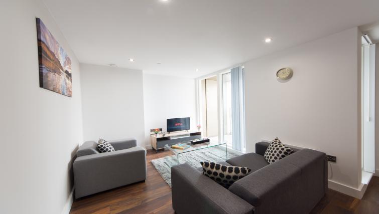 Living area at Cambridge Street Apartments