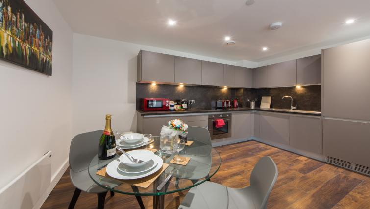 Dining area at Cambridge Street Apartments