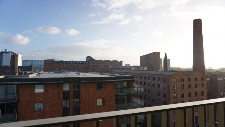 Balcony view at Cambridge Street Apartments