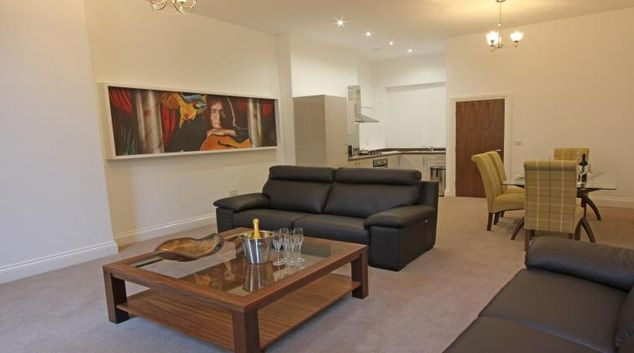 Living area at The Castle Collection