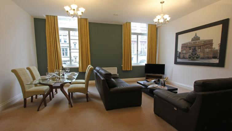 Open plan living area at The Castle Collection