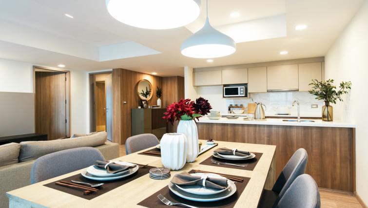 Dining table at Somerset Ekamai Apartments