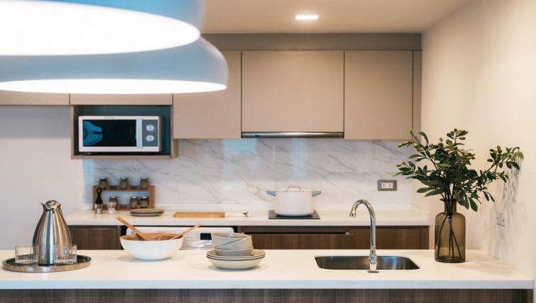 Kitchenette at Somerset Ekamai Apartments