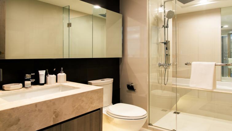 Shower at Somerset Ekamai Apartments