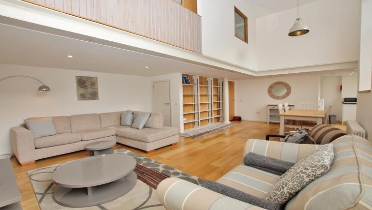Living area at Broughton Street Lofts