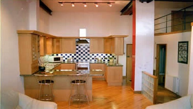 Unique kitchen in Trafalgar Warehouse Apartments