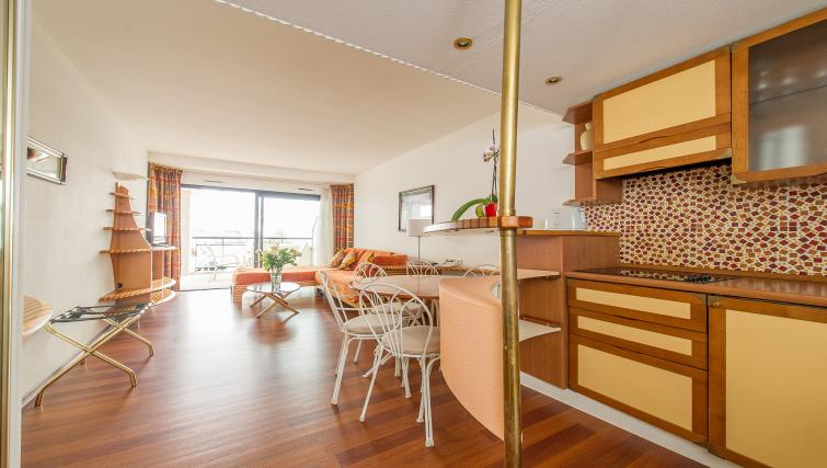 Basic kitchenette at Residence Le Quai des Princes