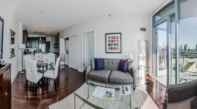 Living space at New City Apartments
