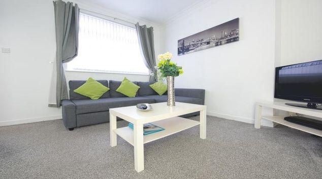 Stylish living area at Hopewell House