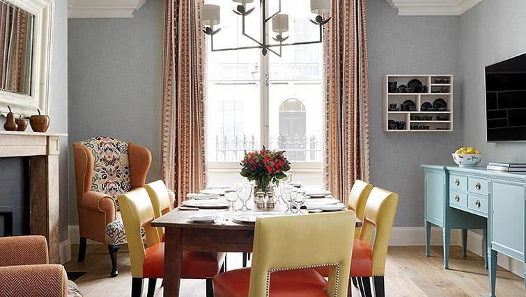 Tasteful dining area in Westminster