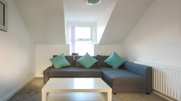 Living area at Crosshills Apartments