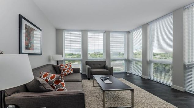 Stylish living space at Woodview Apartments