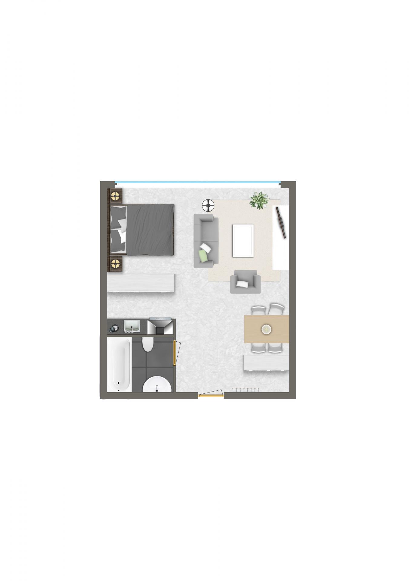 Floor plan 1 at Htel Amstelveen, Amsterdam