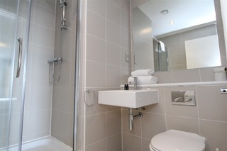 Shower at Ingram Apartments, Merchant City, Glasgow