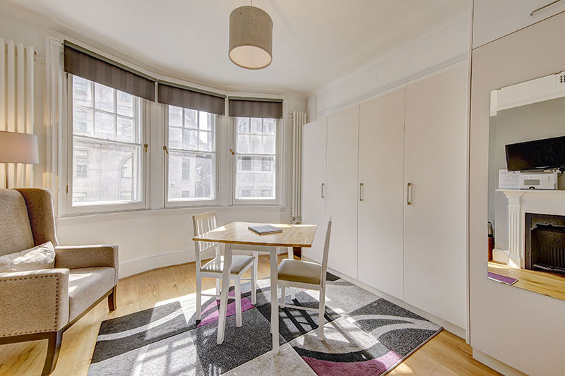 Dining table at Abchurch Yard Apartments