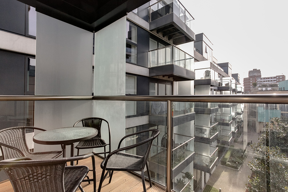 Balcony at Dance Square Apartments