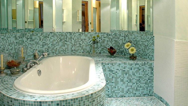 Stylish bathroom in Grey Street Apartment