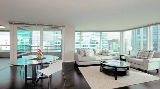Living area at Streeter Apartments