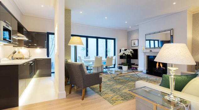 Living room at Redcliffe Retreat Apartment