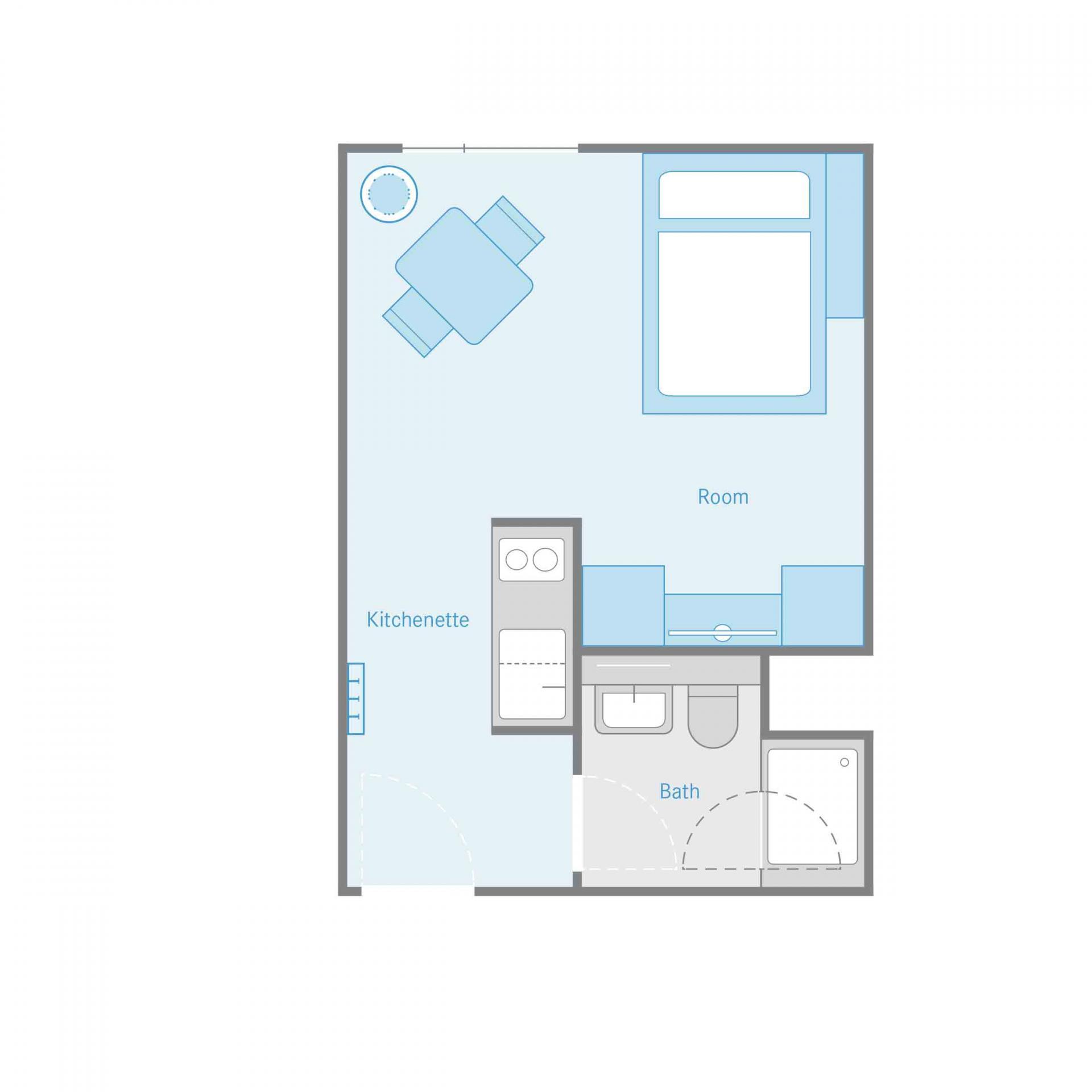 Floor plan of the Smartments Berlin Prenzlauer Berg