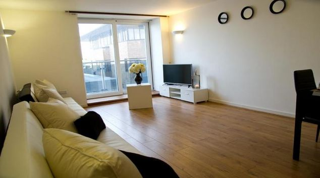 Spacious living area at Icon Beckett Apartments
