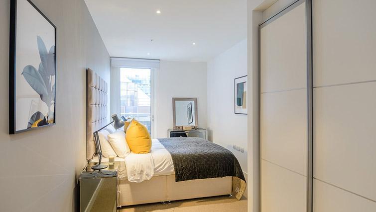Bright bedroom at Victoria Street Apartments