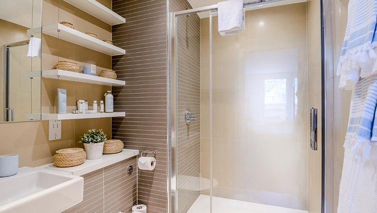 Shower room at Victoria Street Apartments