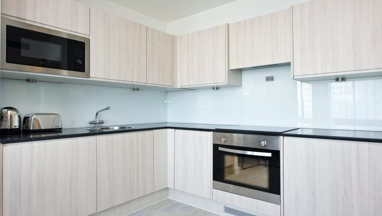 Equipped kitchen at Staycity Manchester Piccadilly